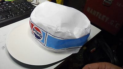 TWO Pepsi COLA Painters Caps Hats X2 hats   new