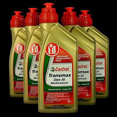 5L Castrol Transmax DEX III Multivehicle Automatikgetriebeöl, MB 236.9,FORD, GM