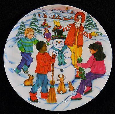 McDonalds Collectible Plate Christmas Snow Train Candy Cane Tree 2002 VGC