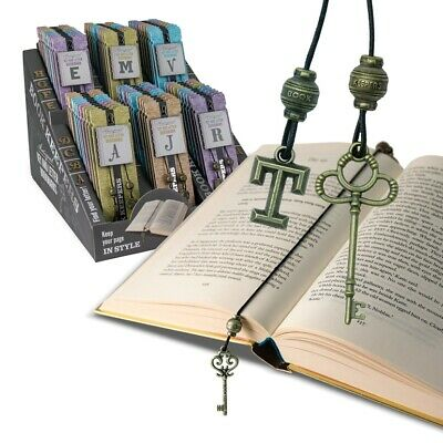 Letter and Key Book Keepers BOOKMARKS A-Z Antique Boutique Weighty Metal