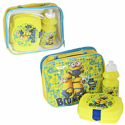 Insulated Lunch Bag, Snack Box and Bottle - Minions
