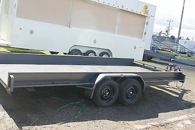 Car Carrier Box Trailer 16x6'6 with Slide Away Ramps