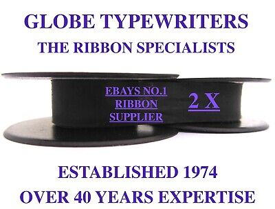 2 x 'OLYMPIA SM9' *PURPLE* TOP QUALITY *10 METRE* TYPEWRITER RIBBONS *SEALED*