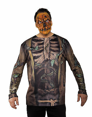 Scarecrow Photo Real Shirt Adult Male Halloween Tshirt Set - One Size