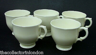 FIVE Vintage 1950's Staffordshire Ivory Background Coffee Cups Only Look in VGC