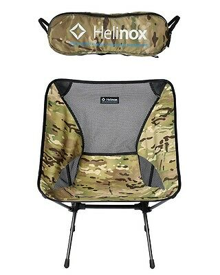 Big Agnes Helinox Chair One Multicam Ultralight 320lb Capacity Weight 1.9lbs NEW
