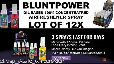 12 BluntPower 1.5 oz (50% FREE) 100% Concentrated Oil Blunt Power Air Freshener