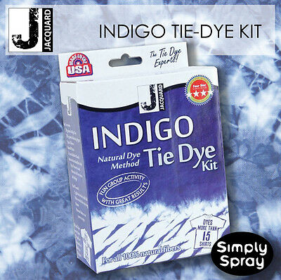 INDIGO Tie Dye Kit - Jacquard dyes up to 15 t-shirts, 2.26kg of fabric-FREE POST