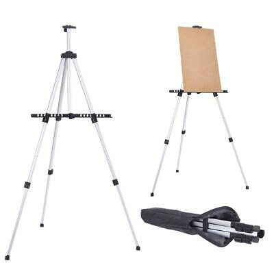 Adjustable Tripod Easel Drawing Board Aluminium Painters Artist Stand With Bag