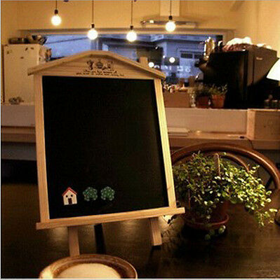 Wood Wooden Home Office Coffee Bar Desk Message Board Blackboard Chalkboard