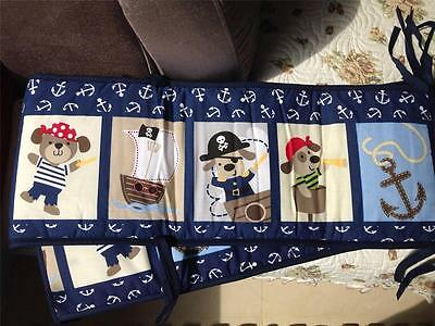 NEW Pirate Baby Crib Bumper Set/ Padded Full Surround /Cotton/ For standard cot