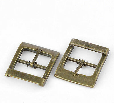 "10 Bronze Tone Shoes Buckles Accessory 33x27mm(1 2/8""x1 1/8""),Inside Wide:20mm"