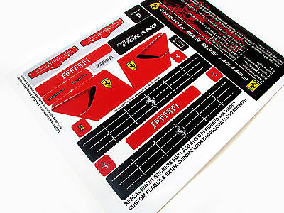 REPLACEMENT STICKERS for Lego 8145 GTB FIORANO with UNIQUE PLAQUE ++ 'DIE CUT'