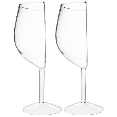 Half Cut Wine Glass 375ml Set of 2