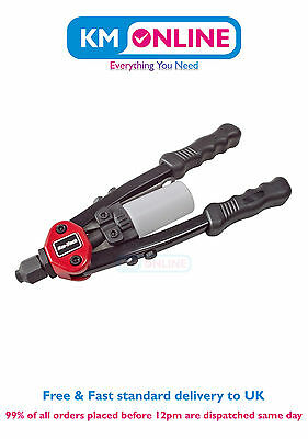 Am-Tech Heavy Duty Rivet Gun Ideal for Sheet Metal, Duct Work, Riveting DIY Tool