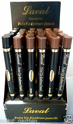 Laval Twist Up Waterproof Eyebrow Pencil  ❤ Black, Brown & Blonde Eye Brows ❤