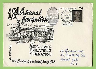 GB 1968 London & Provincial Stamp Club Commemorative Cover Convention Cachet