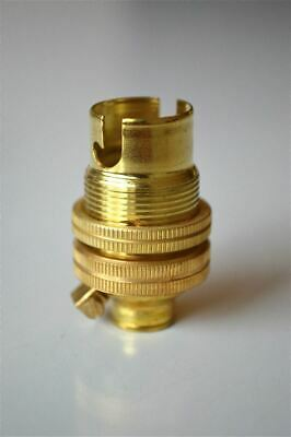 Brass Small Bayonet B15 Fitting Bulb Holder Lamp Holder C/W Shade Ring 10Mm L5