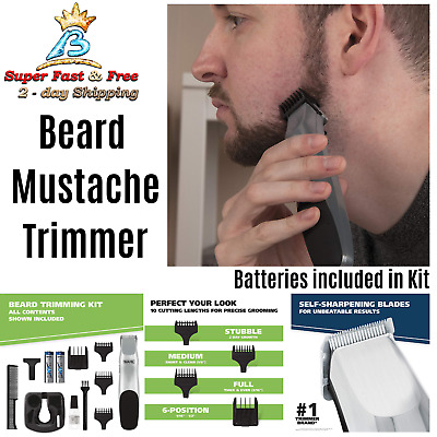Wahl Cordless Beard Ear Nose And Brow Trimmer Set Hair Barber Clipper Shaver