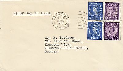 (47132) CLEARANCE GB FDC Holiday Booklet Pane - London 16 Aug 1965