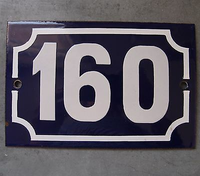 Antique French Enamel Steel Door House Street Gate Number Sign Plaque 160