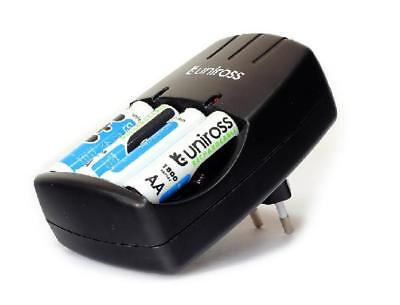 Uniross - Chargeur batteries 1,2V AA/AAA/9V + 4 accus LR06/AA