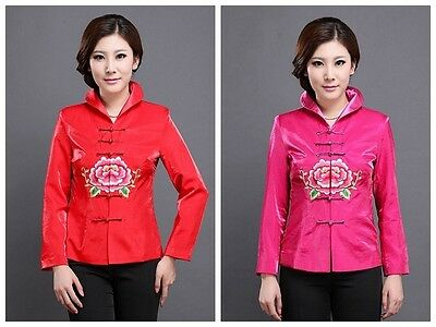 Women Outerwear Jackets Chinese Traditional Style Fashion Coat M L XL XXL 3XL