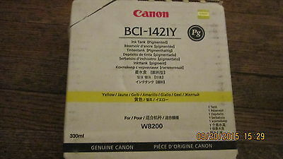 New Genuine Canon BCI-1421Y Yellow Pigment Ink Tank 2012 Exp 330 ml Fit W8200
