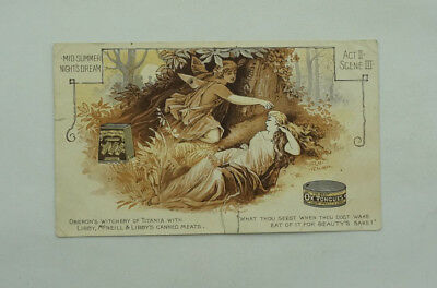 Libby, Mcneill & Libby Ox Tongues Vintage Trade Card 6593
