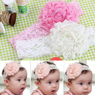 Kids Baby Girls Cute Toddler Lace Flower Headband Hair Band Headwear Accessories