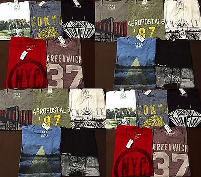 NWT Aeropostale Mens T Shirts Lot of 10 Small SM S   Worldwide ship Resale