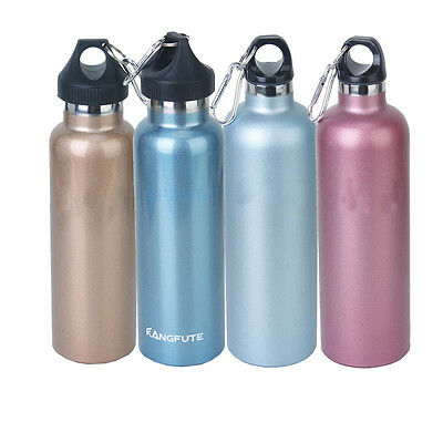 Stainless Steel Eco 20oz Vacuum Insulated Water Drink Bottle Gym Fitness Sports