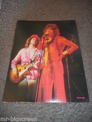 Mick Jagger/mick Taylor - Original 1973 Rising Signs Large Poster Card