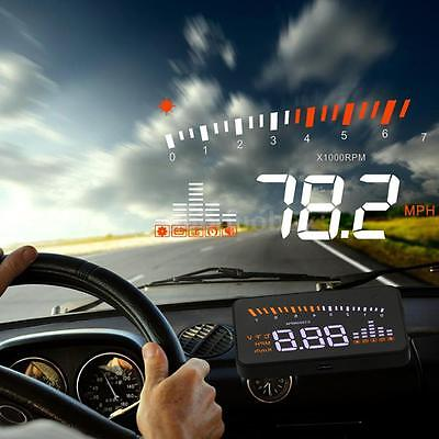 Universal Auto Car HUD Head Up Display KM/h &MPH Speeding Warning Project System