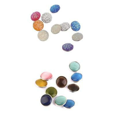 20pcs Mixed Round Snap On Charms Buttons Fit DIY Noosa Leather Bracelet Jewelry