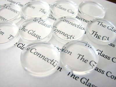 Clear Glass Domed Cabochons Round Choice Of Sizes Jewellery Decoupage