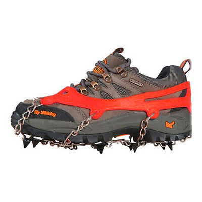 Anti Slip 8-Teeth POINT Ice Snow Shoes Spike Grip Boots Chain Crampons Grippers