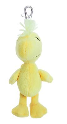 "PEANUTS 5"" Woodstock Keyring Clip Cuddly Soft Toy Teddy by AURORA Snoopy"