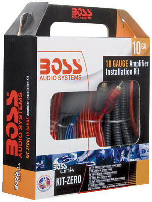 NEW Boss Complete 10 Gauge Amplifier Installation kit KITZERO