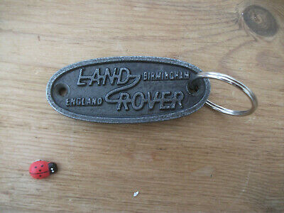 land rover - CAST IRON - keyring . small  75mm