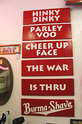 BURMA SHAVE handpainted wood signs lot of 6 advertising barber shop reproduction