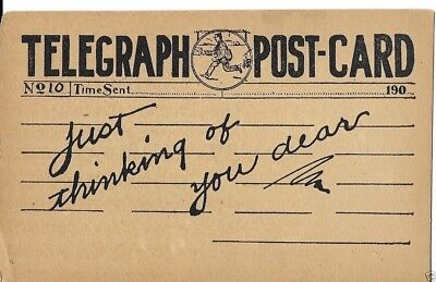 telegraph greeting postcard