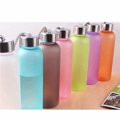 Outdoor Sport Portable Camping Cycling Travel Frosted Water Drink Bottle 600ML
