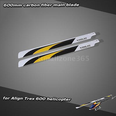 Carbon Fiber 600mm Main Blades for Align Trex 600 RC Helicopter Super RT0A