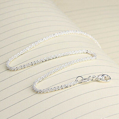 Fashion Women Girls 925 Sterling Silver Plated Shining Chain Anklets Bracelet