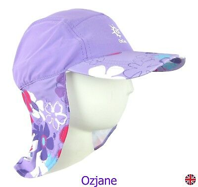Baby Girls Uv 50 +Ozcoz Sun Swim Hat Sun Protection Legionnaire Lilac 1 To 2 Yrs