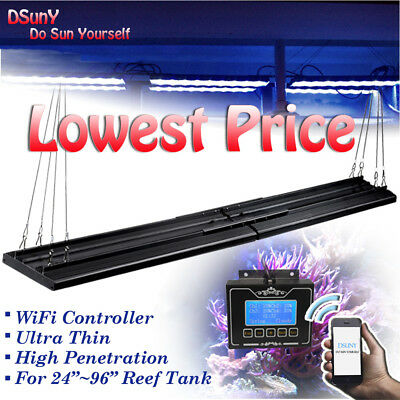 """16""""~96'' Dimmable LED Aquarium Light Coral Saltwater Reef Tropical Fish Tank"""