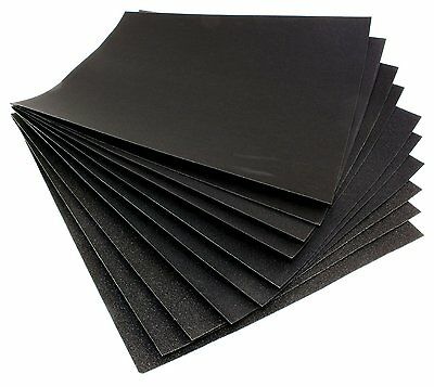 10pc Assorted Wet & Dry Silicon Carbide Paper P400/800/1000 Sandpaper Sanding