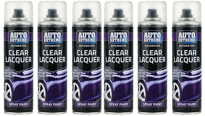 6 x Clear Gloss Spray Varnish Exterior Interior Aerosol Can All Purpose 250ml