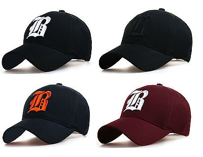 NEW Casual BASEBALL CAP B HAT SNAP BACK Size Adjustable Strap Unisex Mens Women